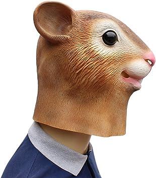 Máscara de látex-ardilla-látex máscara-eichhörnchenmaske