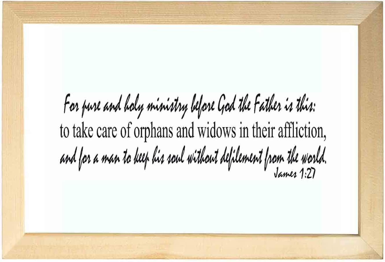 Wooden bible paintings for wall-James 127 Inspirational Wall Art Decor Bible Verse Psalms Home Decoration Painted Artwork Ready to Hang for Living Room Bedroo 20X30CM