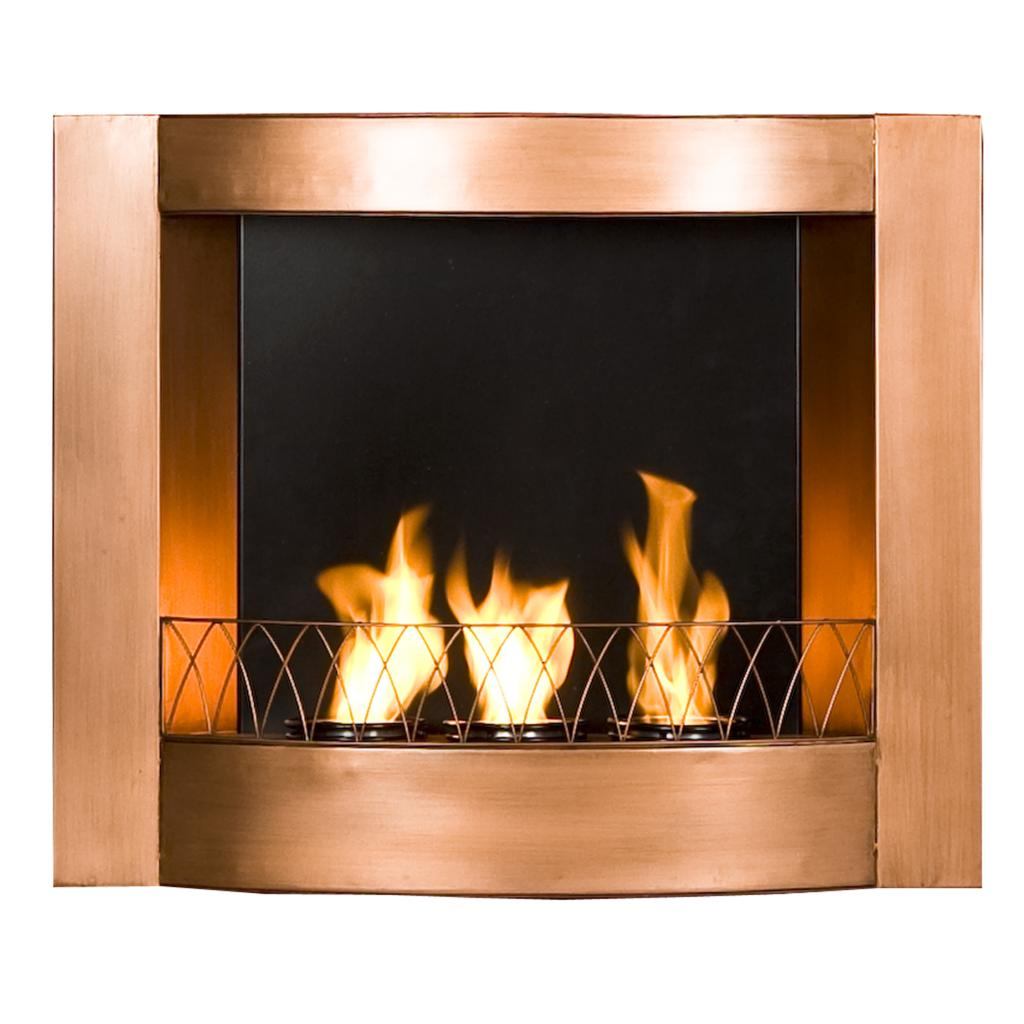 SEI Copper Wall Mountable Gel Fuel Fireplace Kitchen Dining