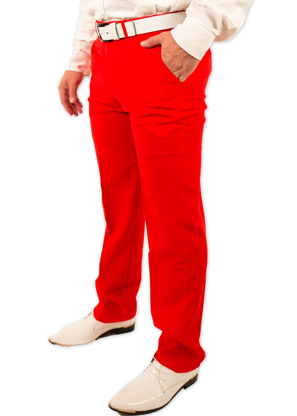 Festified Men's Classic Party Pants In Red (32)