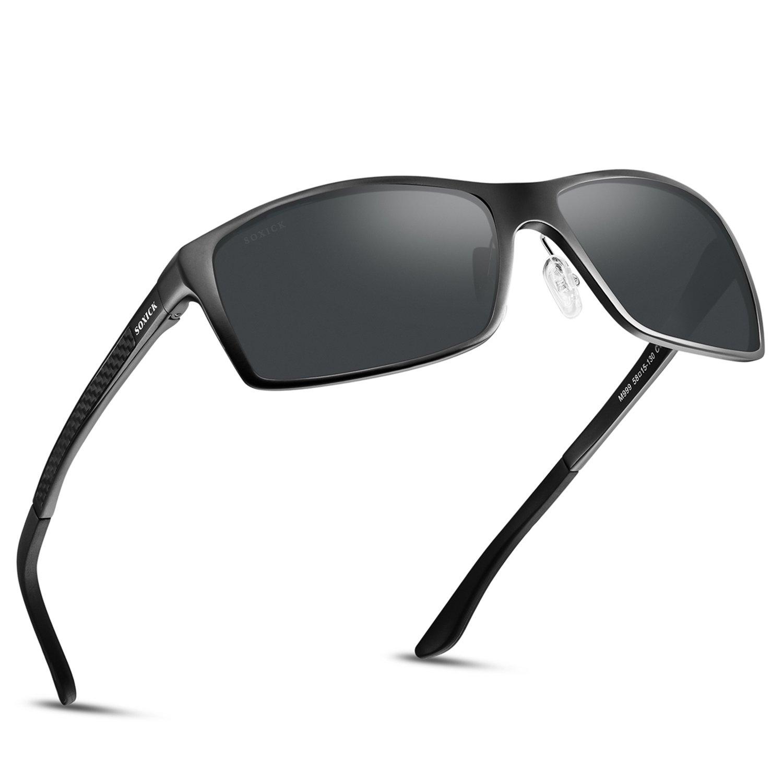 5a78b8eb362 Soxick UV400 Polarized Sunglasses for Men Wayfarer Men s Driving Sunglasses
