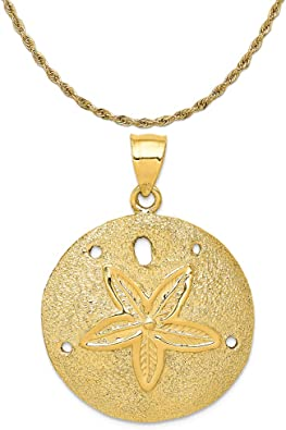 Jewels By Lux 10K Yellow Gold Sand Dollar High Polish Pendant