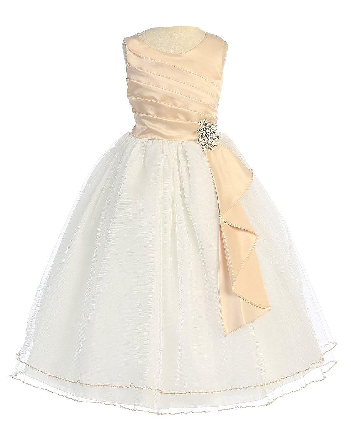 23454737bd Amazon.com  Chic Baby Girls Surplice Double Layer Girl Dress  Clothing