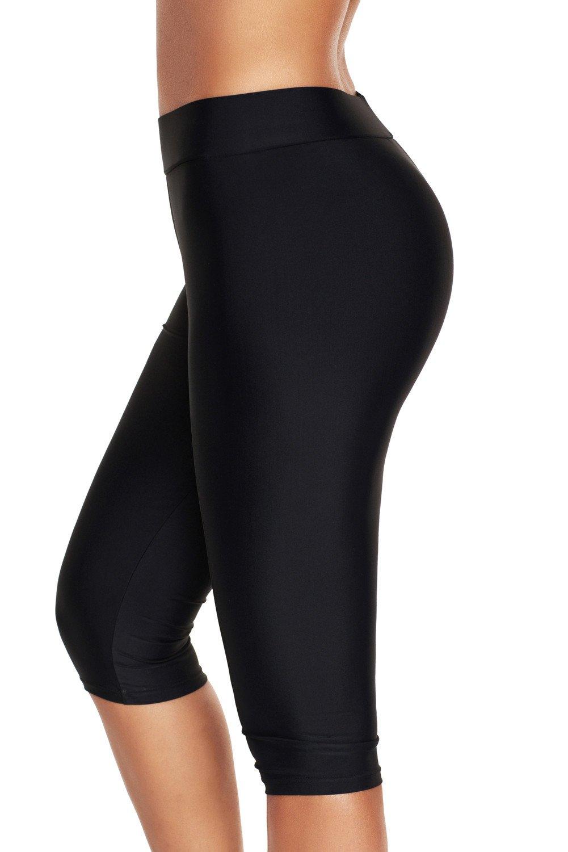ninovino Women's Swim Legging Quick Dry Stretch Water Sports Pants Black 3XL by ninovino