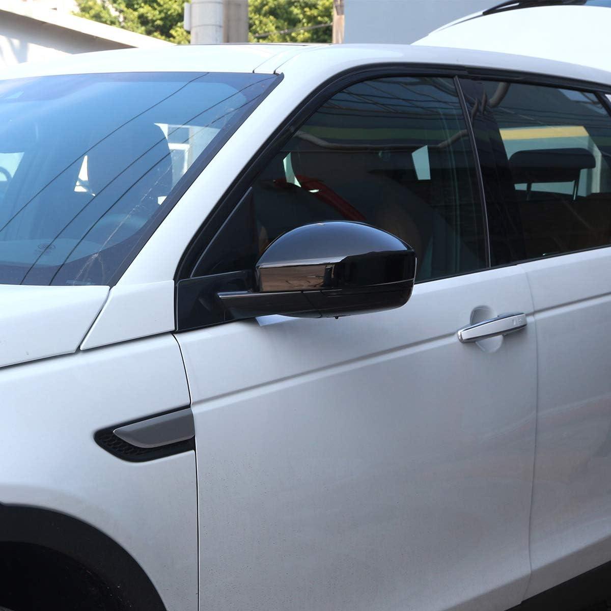 DIYUCAR Car Rearview Mirror Cap Cover Trim For LR Discovery Sport 2015-2019 Glossy Black
