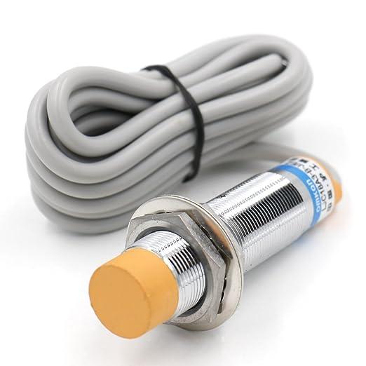Heschen Interruptor de sensor de proximidad capacitivo LJC18A3-B-J/EZ de 1 a 10 mm, 90-250 V de CC, 300 mA NPN, normalmente abierto (NO) de 2 cables: ...