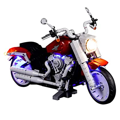 RAVPump Lighting Kit for Harley Davidson Fat Boy Blocks Model - LED Light Set Compatible with Lego 10269 (ONLY Light Set): Toys & Games