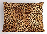 Lunarable Animal Print Pillow Sham, Wild Animal Leopard Skin Pattern Wildlife Nature Inspired Modern Illustration, Decorative Standard Size Printed Pillowcase, 26 X 20 Inches, Sand Brown