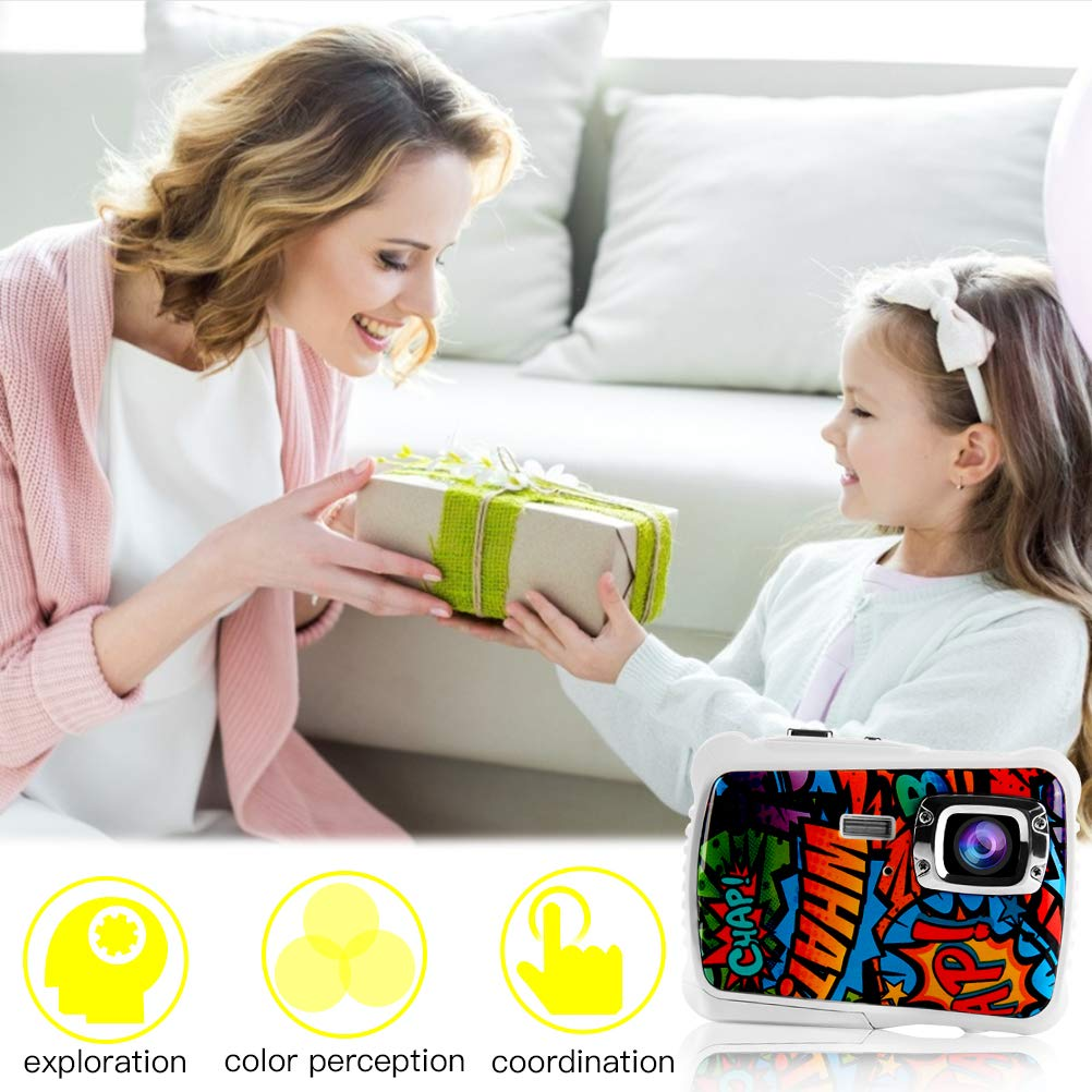 Poogig 【2019 Newest Kids Camera】 Kids Camera, Waterproof Digital Camera for Children, 12MP HD Underwater Camcorder with 3M Waterproof, 2.0 Inch LCD Screen, 8X Digital Zoom, Flash Mic and 8G SD Card by Poogig (Image #8)
