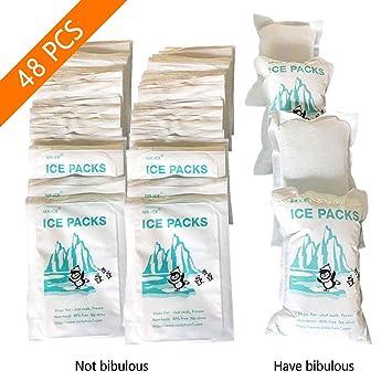 Paquete de hielo de 48 unidades Enfriador de choque para lonchera y bolsa de hielo, paquetes de congeladores reutilizables Mantenga la comida fresca y ...