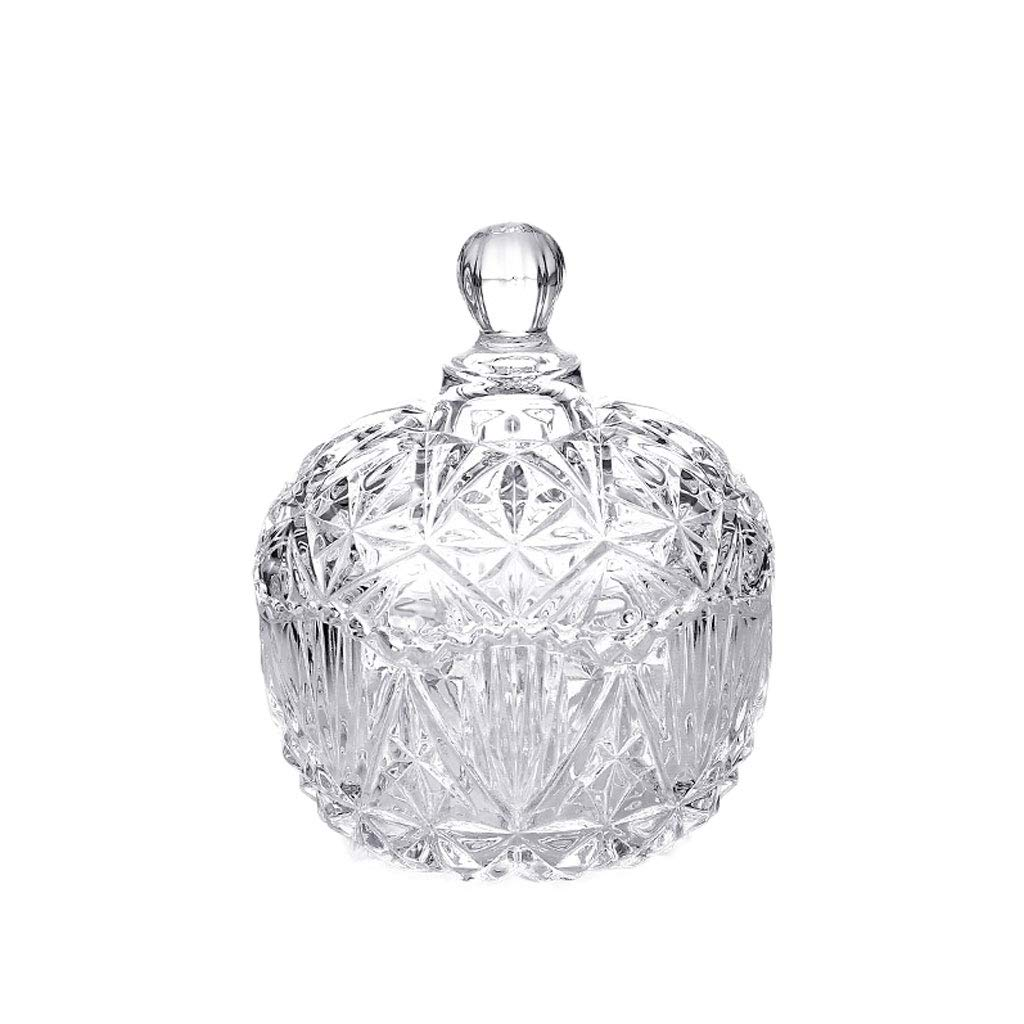 ZDD Crystal Glass Ashtray/Creative Personality Home Practical Ashtray/Decorative Ornaments Gift Three Optional (ø10cm H13cm) (Color : Transparent)