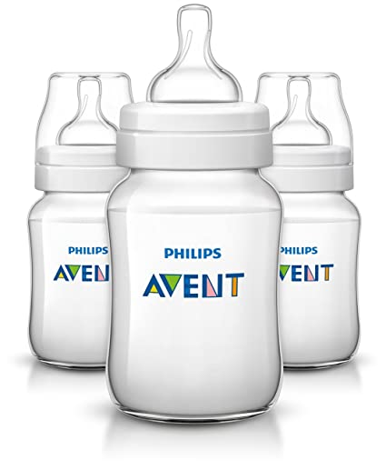 BPA Free Clear 4 Wide Neck Bottles Philips Avent Anti Colic Bottle 9 Oz