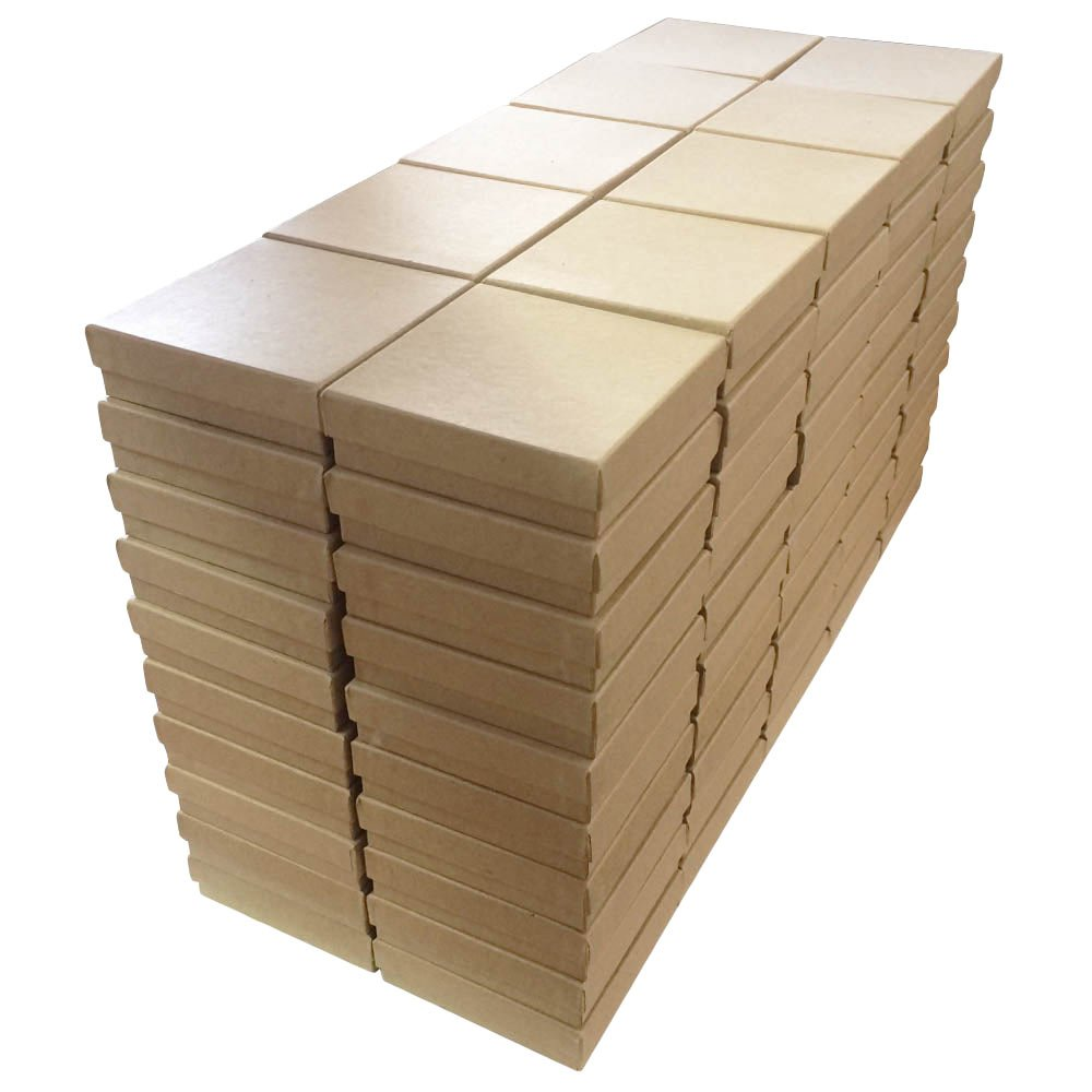 Kraft Cotton Filled Boxes #33 - Pack of 100