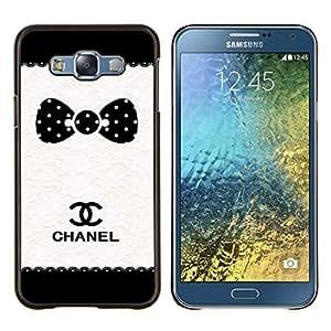 """S-type Modelo de punto Marca Blanco Negro"""" - Arte & diseño plástico duro Fundas Cover Cubre Hard Case Cover For Samsung Galaxy E7 E700"""