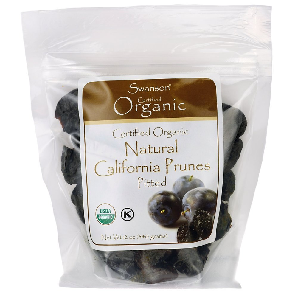 Swanson Certified Organic California Pitted Prunes 12 Ounce (340 g) Pkg