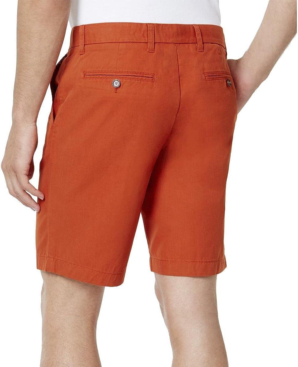 Tommy Hilfiger Mens June Bug Flat Front Casual Chino Shorts