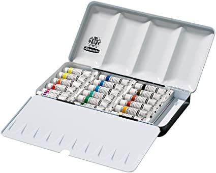 Schmincke Coffret Aquarelle En Metal Ensemble De 18 X 5ml Tubes