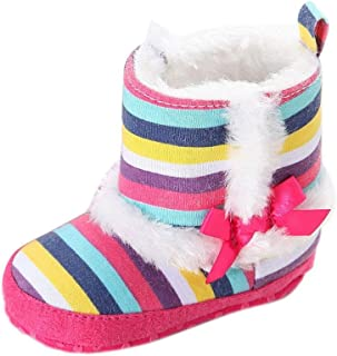 Gotd Baby Infant Toddler Girl Snow Boots Soft Sole Prewalker Crib Shoes