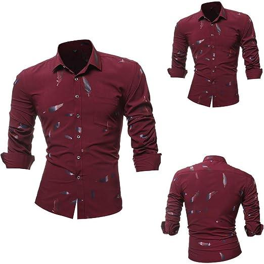 Blusa de Hombre, Polo de Hombre, Camisetas de Hombre, BaZhaHei, Camisas La Blusa Superior Impresa de Manga Larga Delgada Impresa Ocasional de la ...