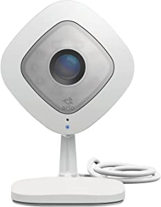 Arlo Q - Wired, 1080p HD Security Camera   Night vision, Indoor only, 2-Way Audio   Cloud Storage Included   Works with Alexa (VMC3040) (Renewed)