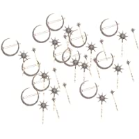 Baosity 36Pcs Popualr Crystal Moon Star Rhinestone Hairpin Hair Clip Jewelry for Women Girls Gift