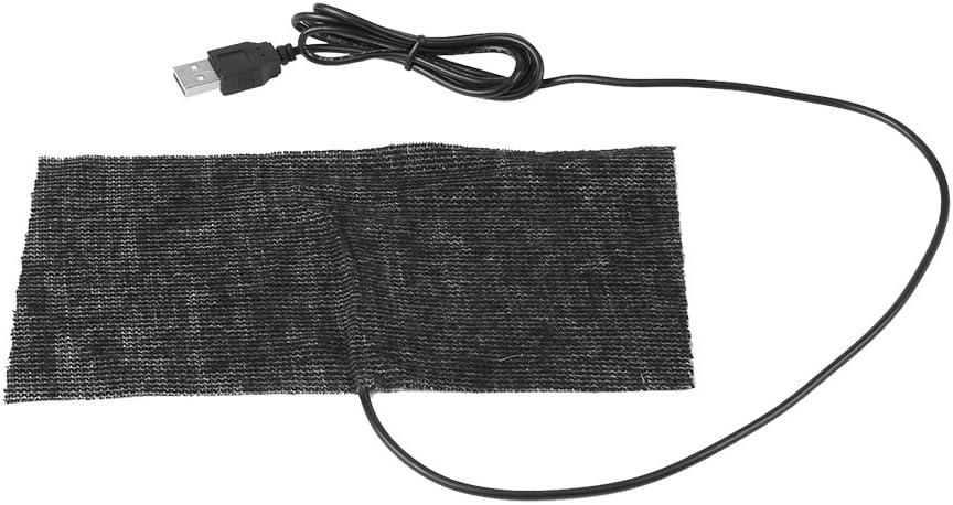Almohadilla calefactora USB, 1 PCS Negro 5V Alfombra calefactora USB de Fibra de Carbono 20 * 10cm Alfombrilla para ratón Módulo de cámara Digital de Manta cálida