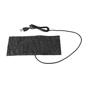 TOPINCN 1 PCS Electric Heating Pad Black 5V USB Carbon Fiber Heating Mat Moist Therapeutic Option Pain Relief 2010cm Mouse Pad Warm Blanket
