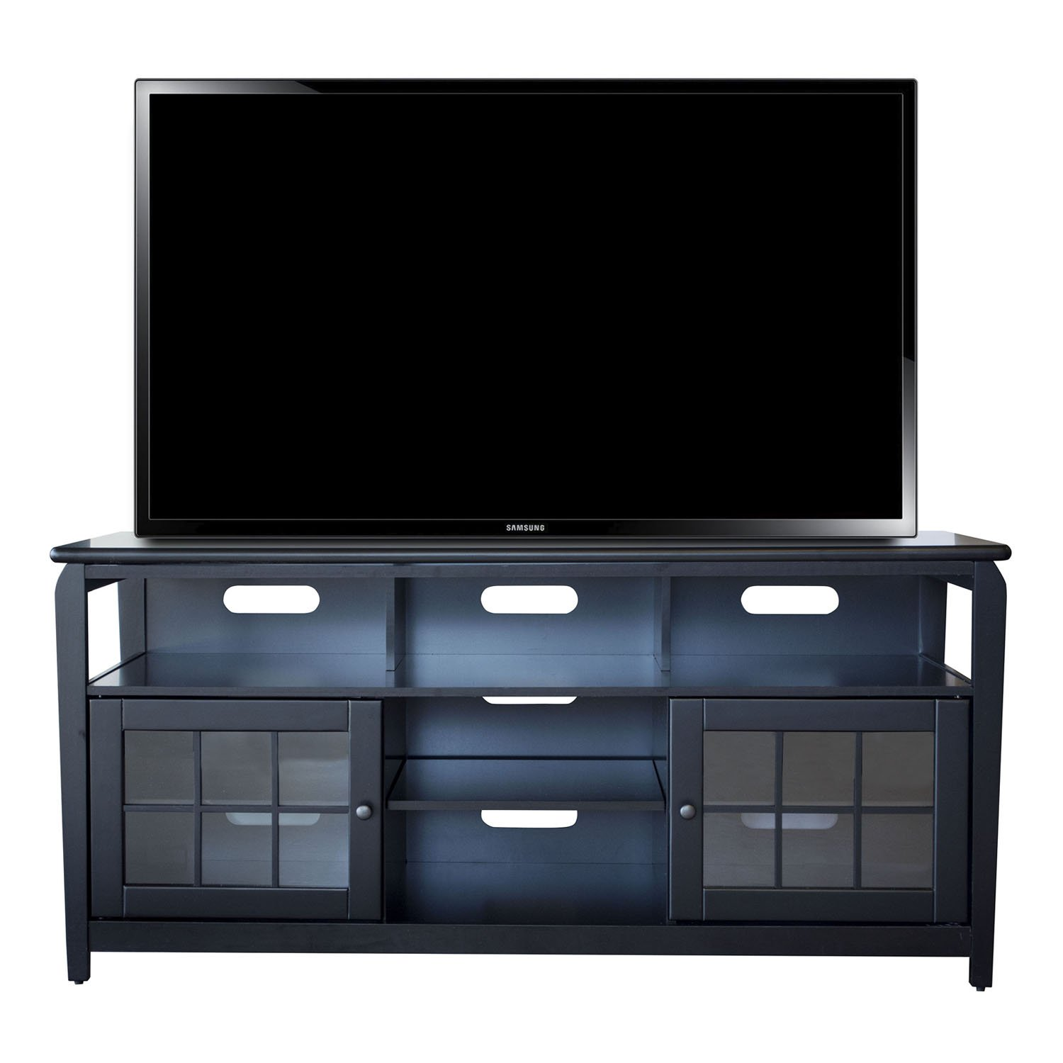 Amazon Com Amerihome Wood Television Stand 60 Kitchen Dining