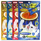 INABA CIAO CHURU Buono Soup Cat Lickable Puree Creamy Cat Treat, Original Japan Cat Snacks 4 Pack 20Pcs X 17g (Variety)