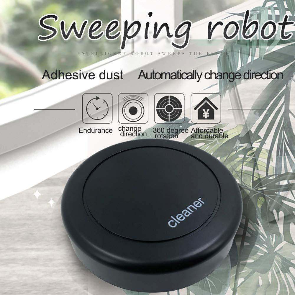 USHOT Intelligent Robotic Vacuum Cleaner Automatic Mini Sweeping Machine Black One Size