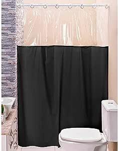 Cortina p/Box de Banheiro Preto 1,40m X 1,98m