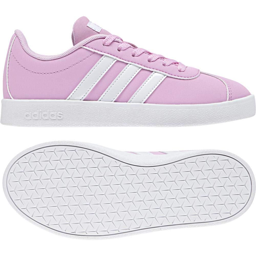 Rose (Rosesc   Ftwbla   Gridos 000) adidas VL Court 2.0 K, Chaussures de Gymnastique Mixte Enfant 37 1 3 EU