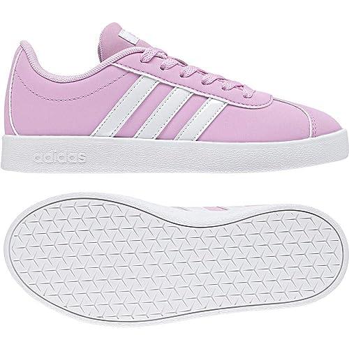 4c02db76396357 adidas Unisex-Kinder VL Court 2.0 Fitnessschuhe Pink (Rosesc Ftwbla Gridos  000