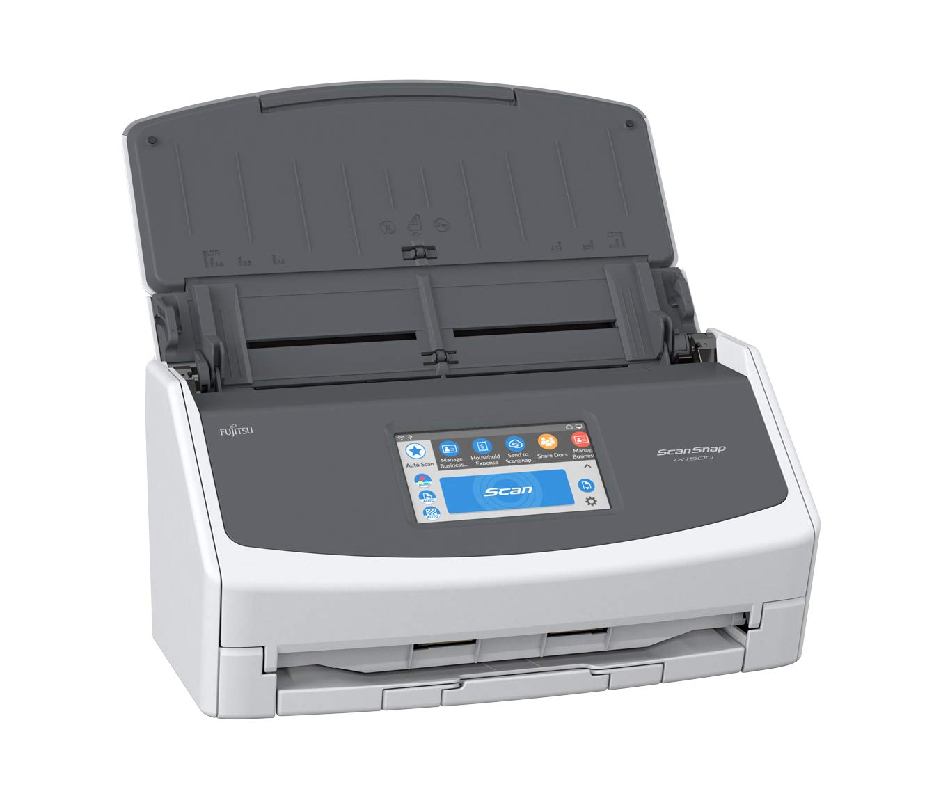 Fujitsu ScanSnap iX1500 Color Duplex Document Scanner with Touch Screen for Mac and PC, White/Gray [NEW MODEL]