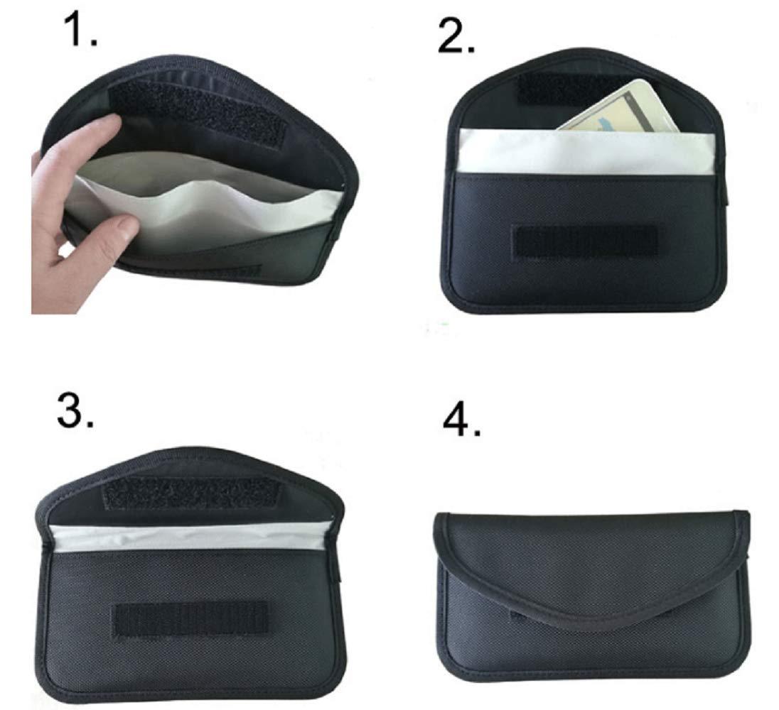 Bolsa Antideslizante Bolsa con se/ñal de Bloqueo para tel/éfonos con Llaves para el autom/óvil Eidyer Bolsa de Faraday 20CMX10CM sin se/ñal antirradiaci/ón nil/ón