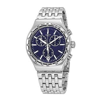 Swatch Reloj Cronógrafo para Hombre de Cuarzo con Correa en Acero Inoxidable YVS445G: Swatch: Amazon.es: Relojes