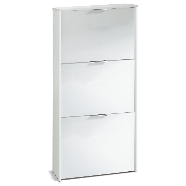 zapatero blanco con 3 puertas