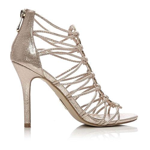 Plateado Zapatos In De Mujer Moda Pelle PlataAmazon Vestir Para b76vfgYy