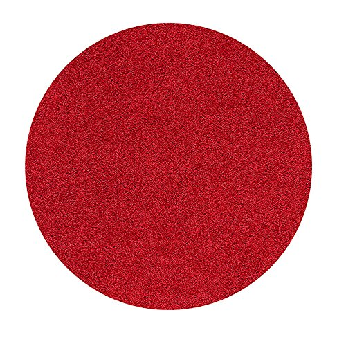 Red 4' Round Area Rug - 9