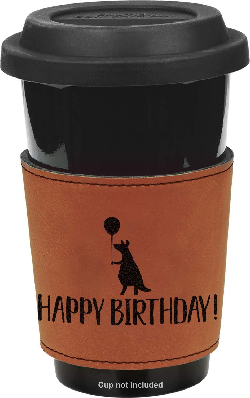 Animal Friend Birthday Leatherette Mug Sleeve - Single Sided (Personalized)