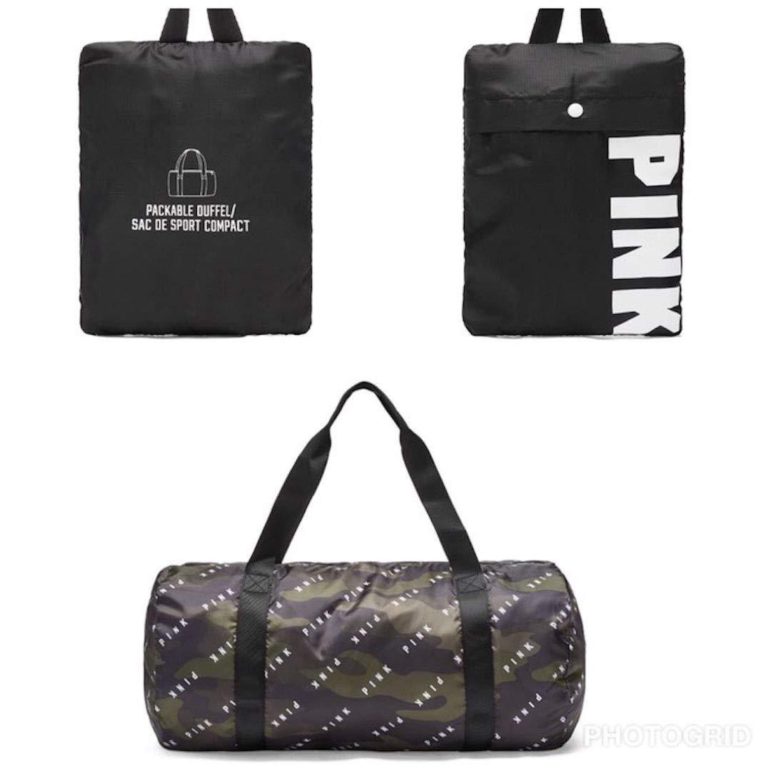 Victorias Secret Pink Packable Duffel Camouflage /& Black
