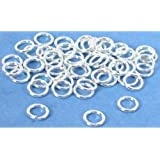 50 Jump Rings Open Sterling Silver Jewelry 19 Ga 6mm
