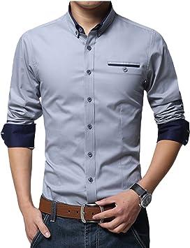 Gladiolus Camisa de Manga Larga para Hombre Moda Camisa del Negocio Estilo Business: Amazon.es: Deportes y aire libre