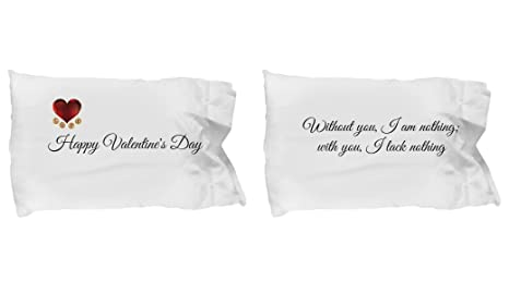 Amazoncom I Will Love You Forever Pillowcase Valentines Day