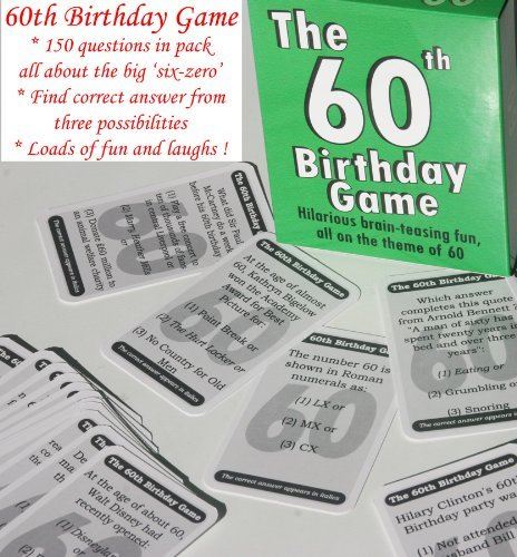 The 60th Birthday Game A Fun Gift Or Present Specially For People Turning Sixty Also Works As An Amusing Little Party Quiz Idea Icebreaker