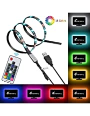 LED Strip Lights, USB TV Backlight Kit RGB Bias Lighting with Remote 3M Waterproof LEDs Ambient Home Theater Light, Accent Lighting to Reduce Eye Strain and Increase Image Clarity