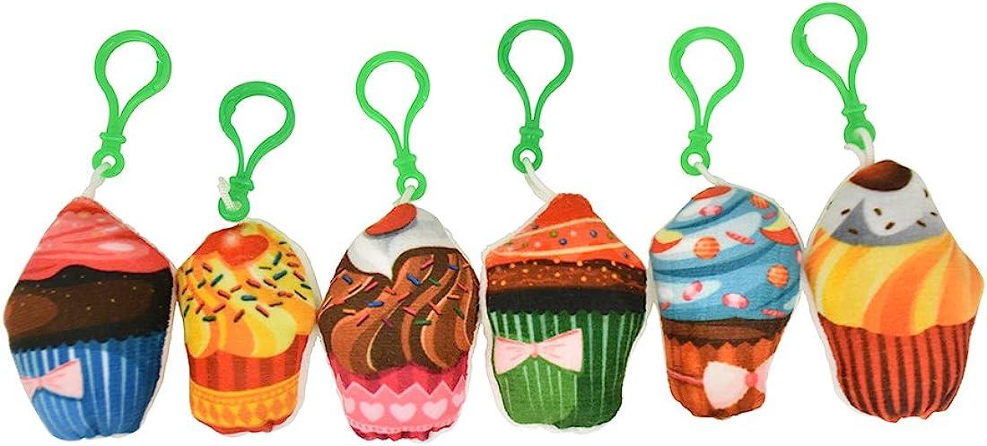 Plush Cupcake Backpack Charm Squishy | 6 Count