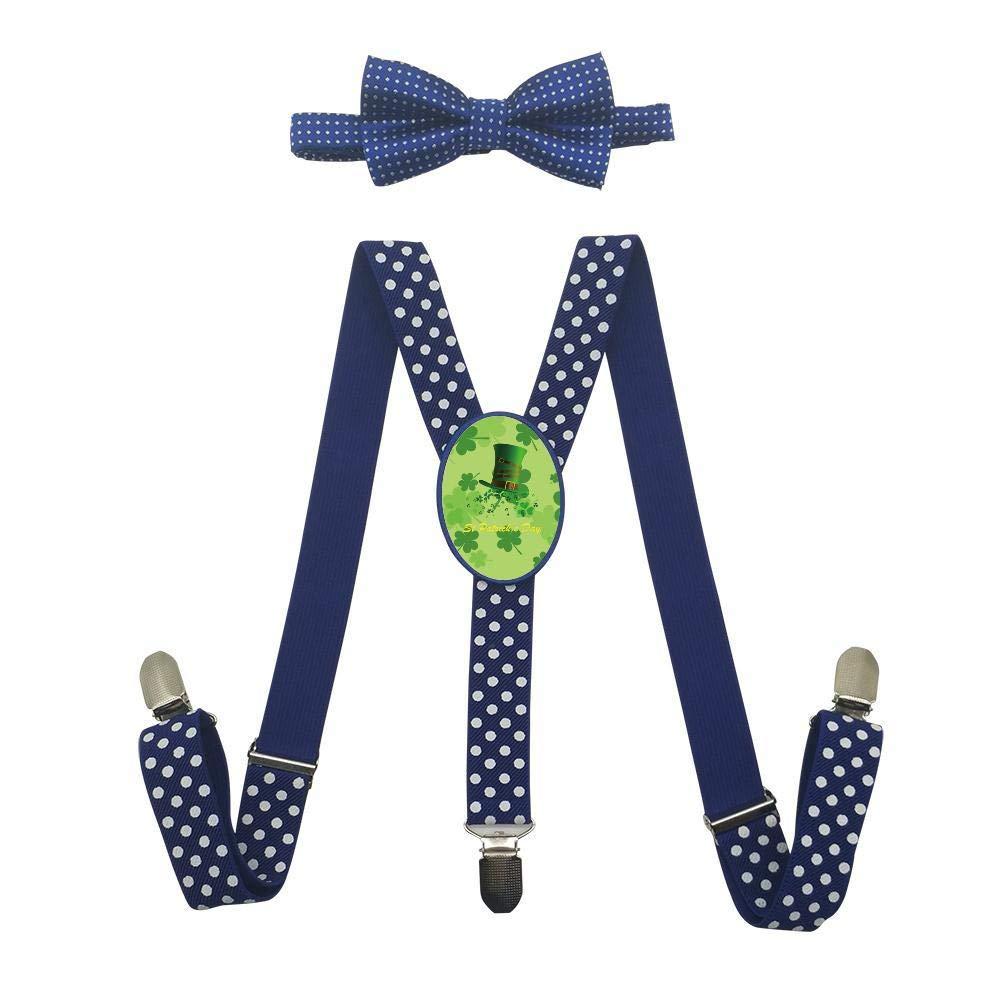 Qujki St Suspenders Bowtie Set-Adjustable Length