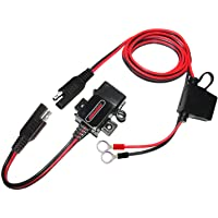 MOTOPOWER MP0609A-UK 3.1Amp motorfiets USB oplader kit voor telefoon, GPS of sport camera