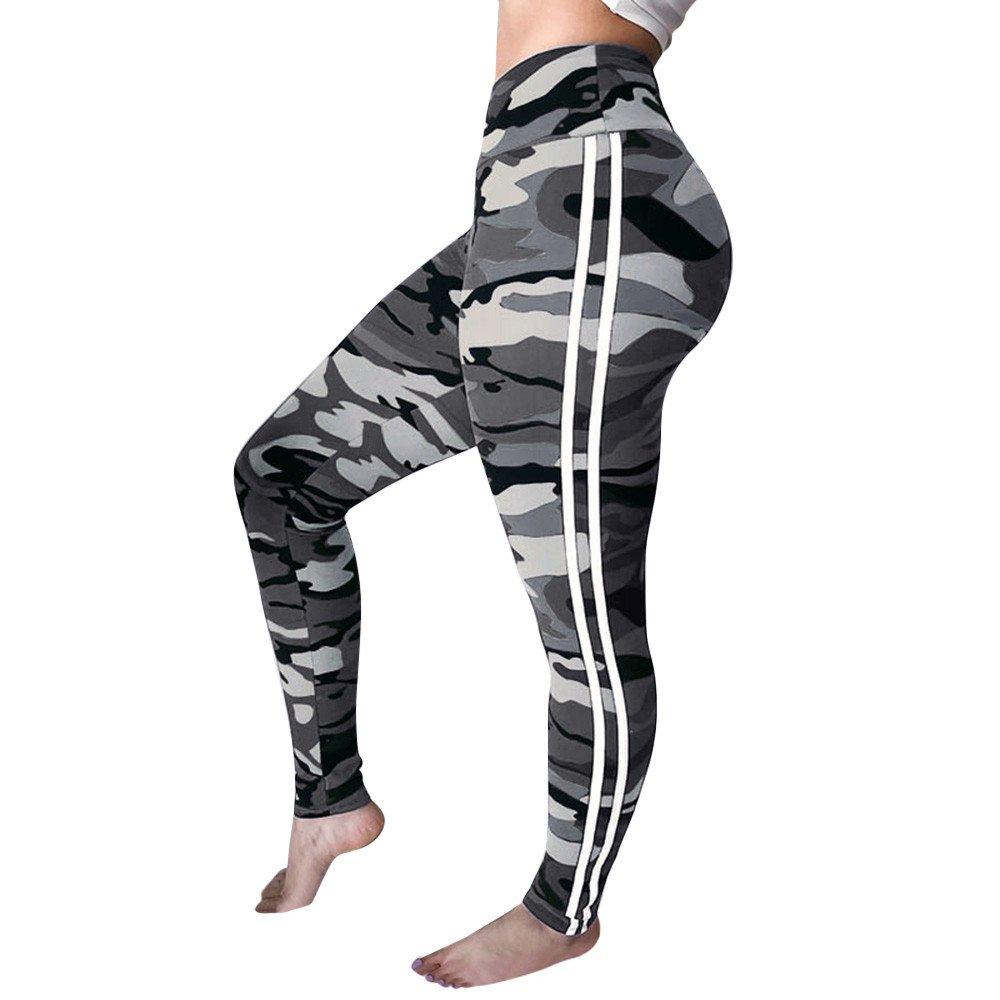 Routinfly Camouflage Hose für Damen, Lady Cargo Hose Jogger Hip Hop Rock Leggings